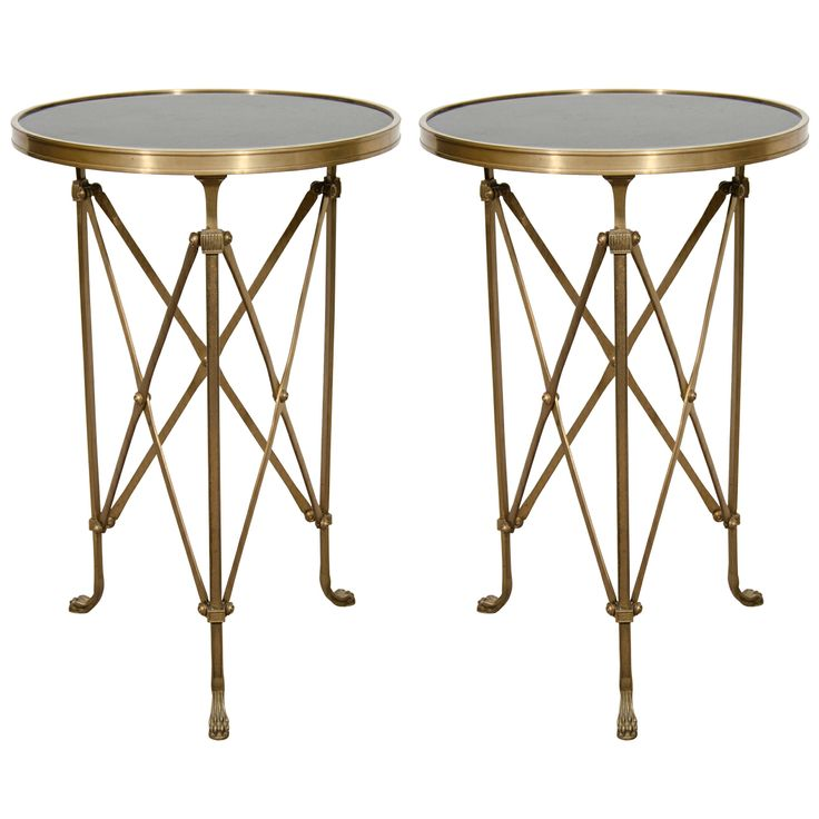 Pair Of Hollywood Regency Side Or End Tables
