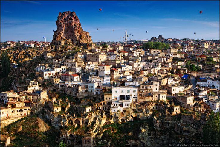 Castle of Ortahisar  (Cappadocia, Turkey)  by Michail Vorobyev