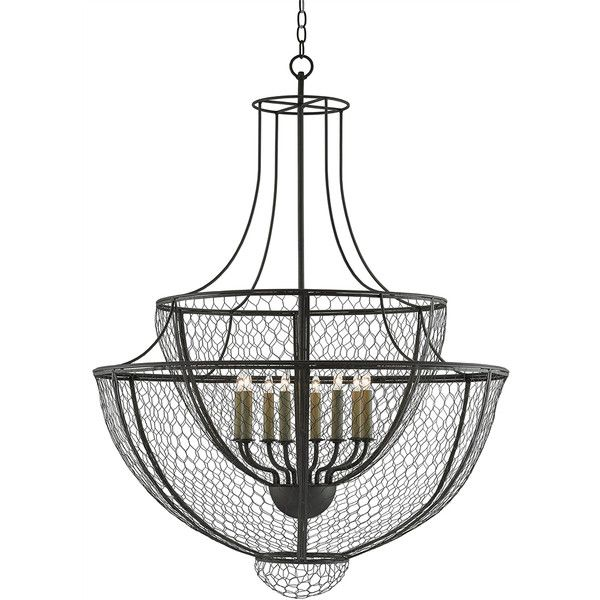 french country wire basket chandelier liked on polyvore featuring home
