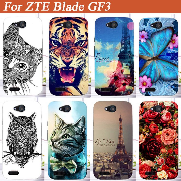 Fashion SOFT TPU Cover For ZTE Blade GF3 GF 3 (4.5') Cool Case Lovely Various Animals 3D diy Design For ZTE gf3 tpu Case Cover