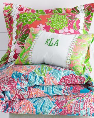 lilly pulitzer bedding -- lets cha cha spa blue