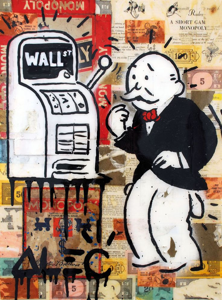 Slot Machine (Wall St. Monopoly) - Avant Gallery