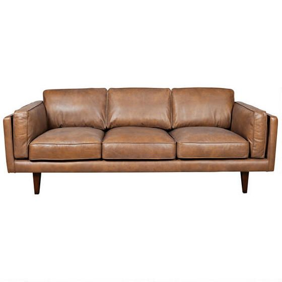 Diego Leather Sofa - Tan