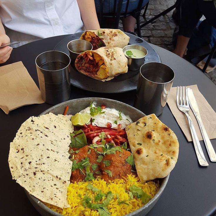 Lunch igår blev indiskt från @indianstreetfoodsweden  @stockholmfood har varit en ovärderlig källa till information när det gäller att välja mat-ställen i Sthlm :)