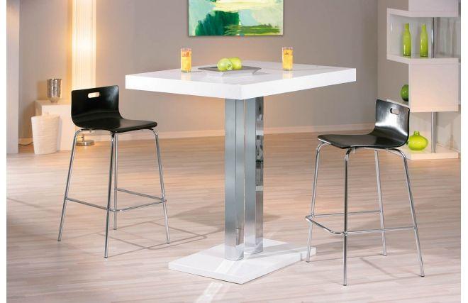 Table de bar Miliboo promo table, achat Table de bar blanc laqué Oriana prix Miliboo 2399,00 € TTC