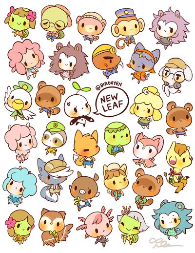 by birduyen: animal crossing npc stickers
