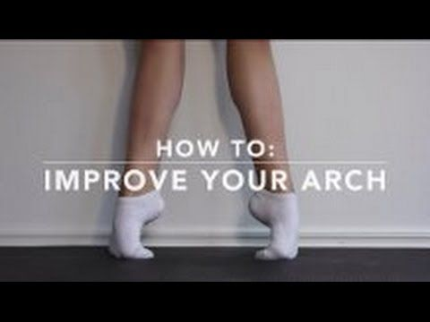 Not quite sure if this will work or damage my feet even more but we shall see. How to: improve your arch - YouTube
