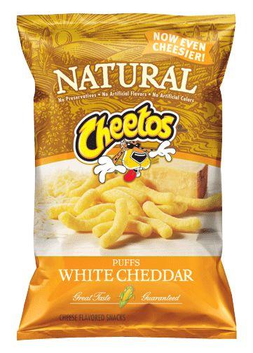 Natural White Cheddar Cheetos.