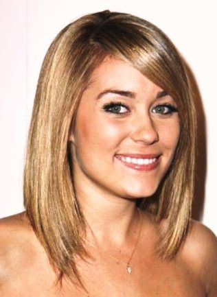 pictures of long hair styles for round face | Long Bob Haircuts/Hairstyles for Round Faces | Fashions Planet
