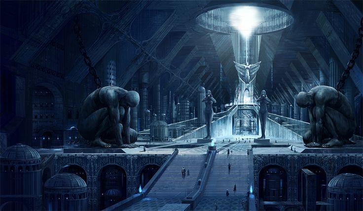 """The Underground City Vesgorat"" by noba http://www.pixiv.net/member_illust.php?mode=medium&illust_id=4034962"