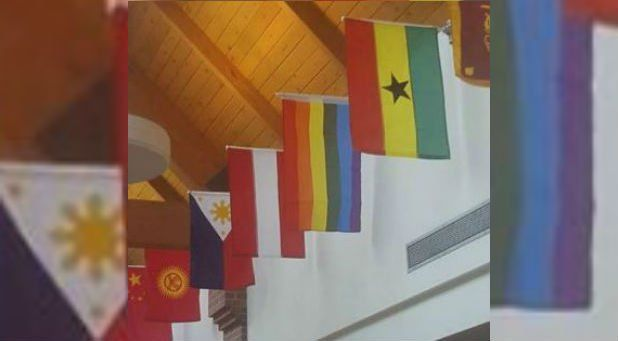 LGBT Flag Seen Displayed at Billy Graham's Wheaton College