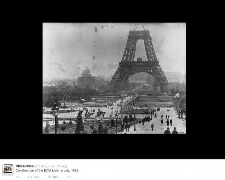 La costruzione della Torre Eiffel, 1988