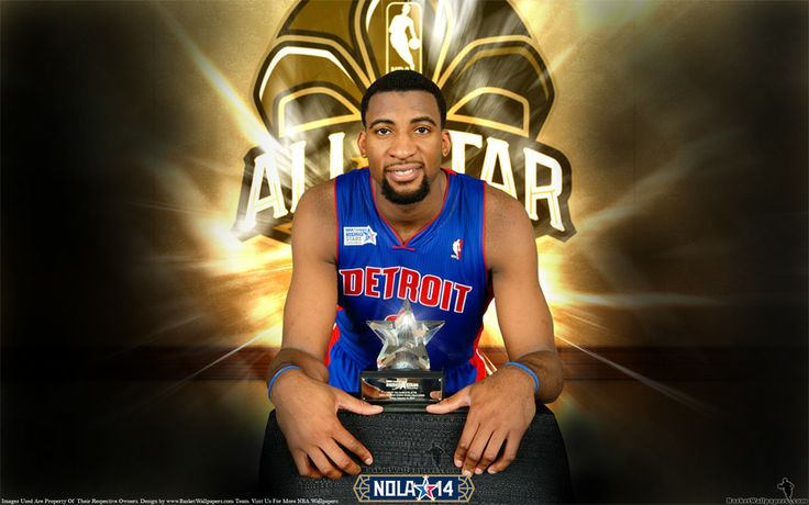 Wallpaper of Andre Drummond with 2014. NBA Raising Stars Challenge MVP trophy. Full size of wallpaper is available at - http://www.basketwallpapers.com/USA/Andre-Drummond/ :)