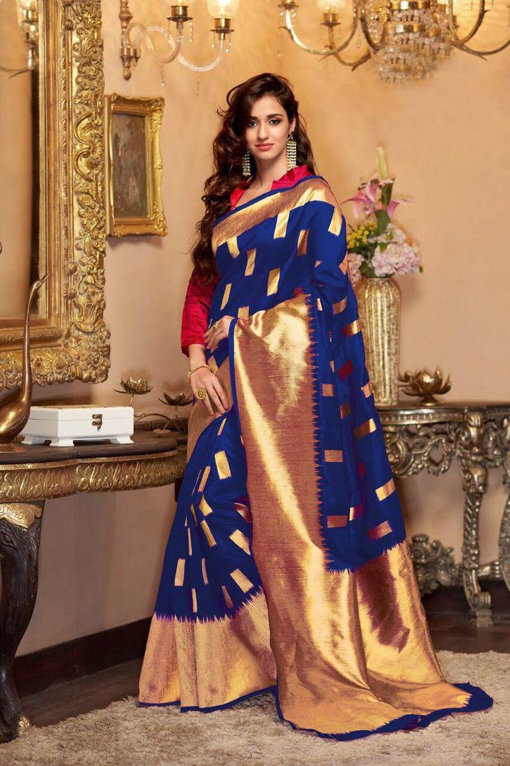 #southindiansaree #silksaree #banarasisilk #southindianbride #engagementsaree #engagementsaris #saris #sarees2018 #newsareespattern #asianhautecouture #designersilksarees