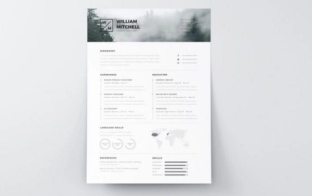 Minimalistic and Clean Resume Template