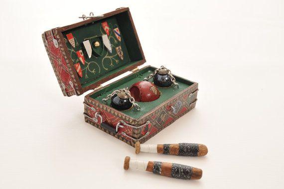 Miniature Harry Potter Quidditch Set in by MagicalMiniaturesUK