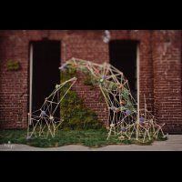 Геометрическая арка для свадебной церемонии