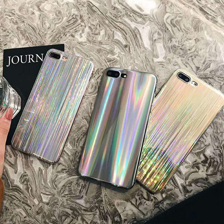 Aliexpress.com: Comprar Shooting star rainbow oro plata caja del teléfono suave para el iphone 8 plus 8 6 6 plus blanco borde brillante caso suave para el iphone 6 s 7 plus 7 de case for iphone fiable proveedores en Yongwei Factory Store