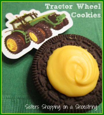 John Deere Tractor Wheel birthday party favors   www.sistersshoppingonashoestring.com