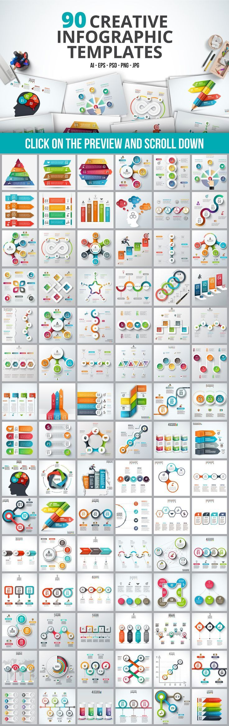 Business infographic : Infographic templates bundle by Abert