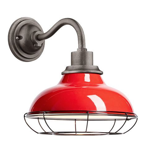"""Carson 12"""" Wall Sconce with Cage - Tomato Red Tomato Red A1881"""