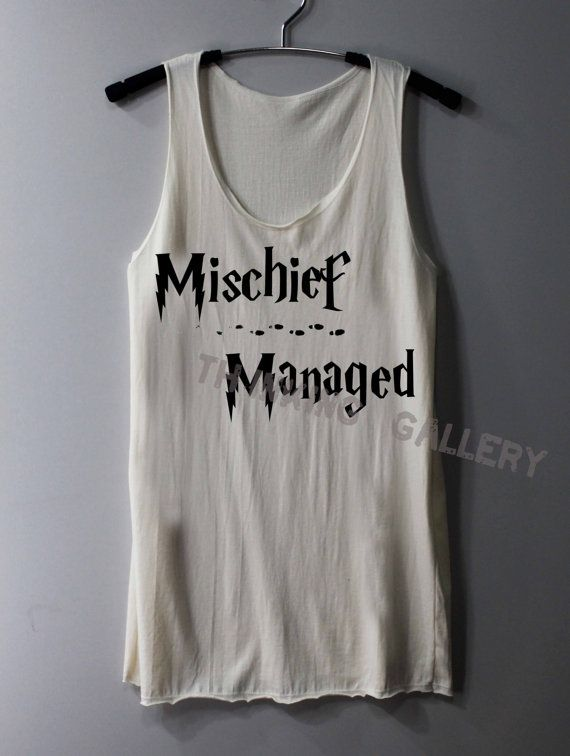 Mischief Managed Shirt Harry Potter Map Shirts Tank Top Tunic TShirt T Shirt Singlet - Size S M L on Etsy, $15.00
