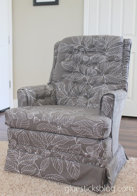 Reupholster a swivel rocker chair need to do this with my club chair