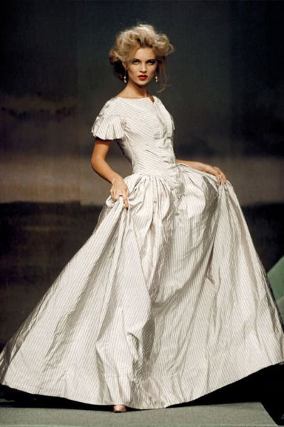 notordinaryfashion:  Kate Moss in Vivienne Westwood Wedding Dress for S/S 1995