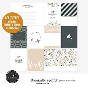 Romantic Spring - Journal cards