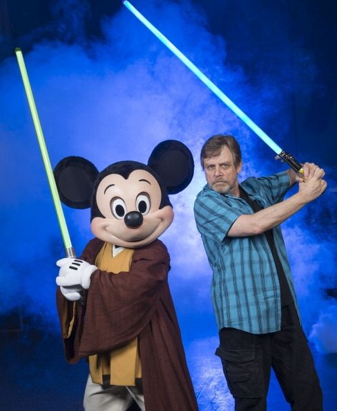 Mark Hamill with Mickey Mouse