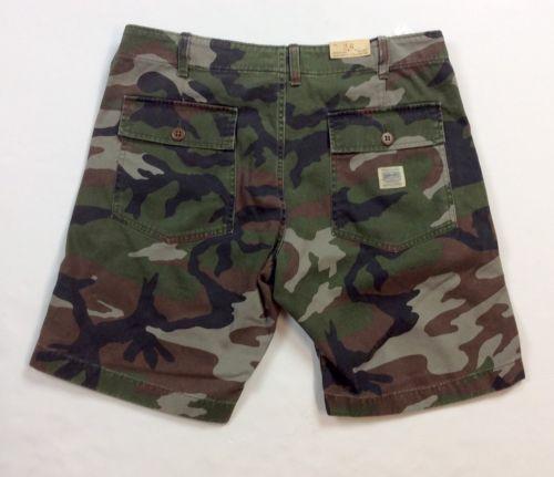 13d1895953 Denim Supply Ralph Lauren Men Military US Army Camo Twill Utility Shorts  Pants | eBay