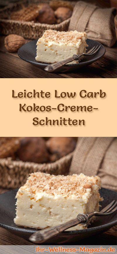 Schneller Low Carb Kokos-Quarkkuchen – ohne backen – Rezept ohne Zucker