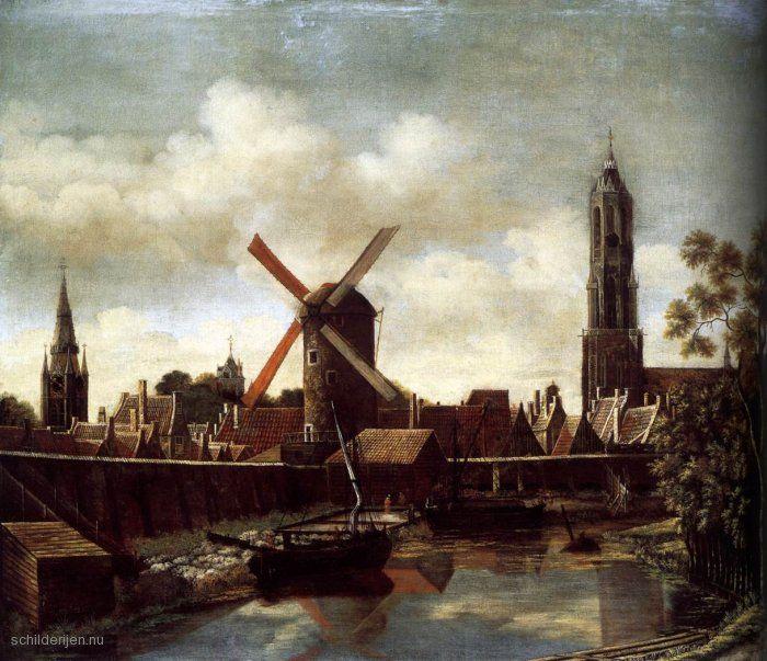 De Haven van Delft door Daniel Vosmaer, 1658
