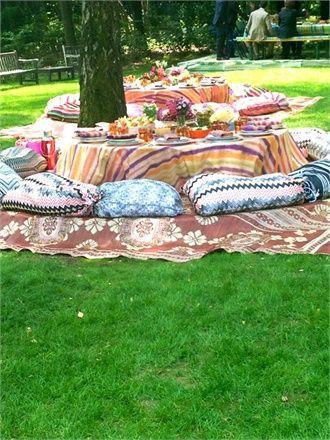 Missoni Wedding Decor - gypsy luxe