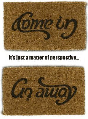 It's a matter of perspective...decide whether you're in the mood for company or not and then flip the map accordingly.