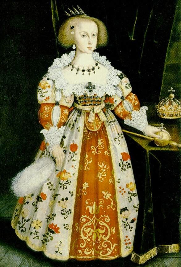 1634 Queen Christina of Sweden by Jacob Heinrich Elbfas (location unknown to gogm) | Grand Ladies | gogm