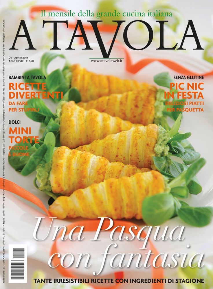 Our #April issue is out! and we know you will just #love it! #cover #ATavola #easter