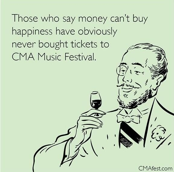 Counting down to CMA Fest with my loving husband!