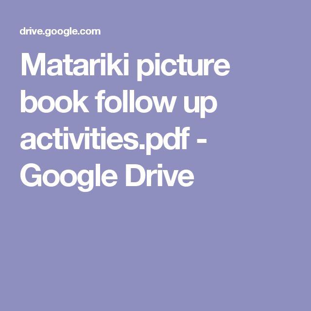 Matariki picture book follow up activities.pdf - Google Drive