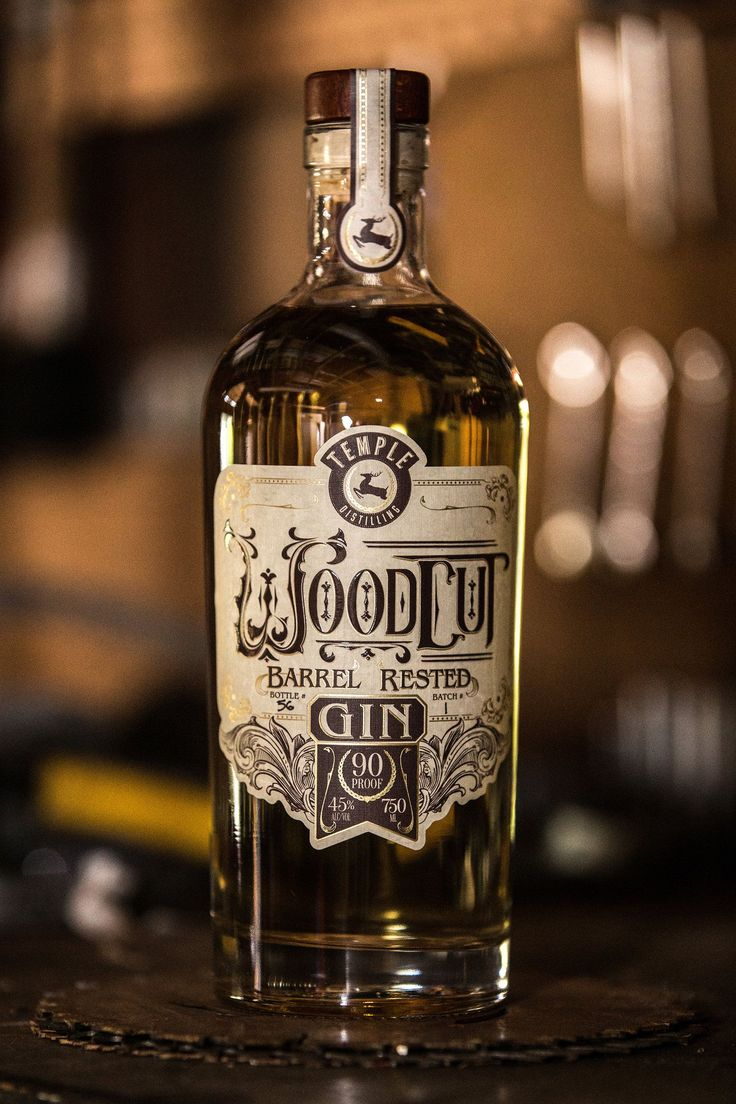 Woodcut Barrel Rested Gin: Your G&T's New Best Friend — The Dieline - Branding & Packaging Design