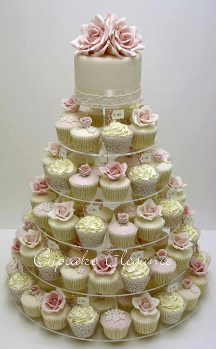 Great spin on the traditional wedding or shower cake