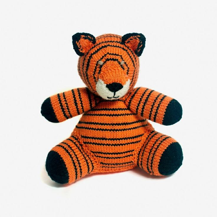 Happy little tiger, can make him in any colours great gift!
