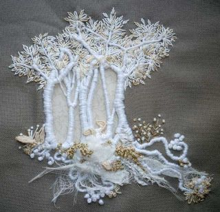 Hinterland Mama: Embroidered trees. The Hand-stitching of Francine Leclercq