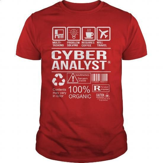Awesome Tee For Cyber Analyst - #sweatshirt #blue hoodie. BUY NOW => https://www.sunfrog.com/LifeStyle/Awesome-Tee-For-Cyber-Analyst-103799347-Red-Guys.html?60505