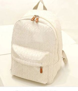 2014 New Korean Women backpack Lace cute school bags backpacks Fresh canvas printing backpack women Free Shipping