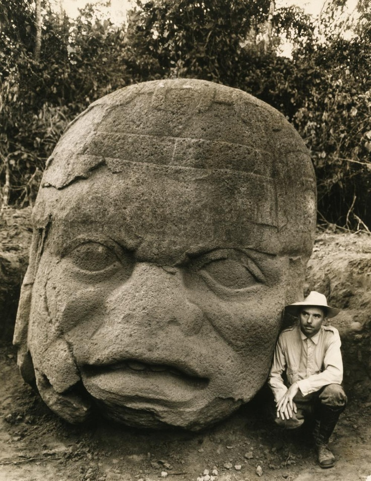Beginning in 1938, Matthew Stirling, chief of the Smithsonian Bureau of American Ethnology, led eight National Geographic-sponsored expeditions to Tabasco and Veracruz in Mexico. He uncovered 11 colossal stone heads, evidence of the ancient Olmec civilization that had lain buried for centuries.