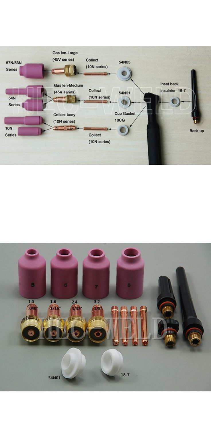 TIG Welding Consumables Accessories KIT Gas lens Nozzle insulator Cup Fit TIG welding Torch SR PTA DB WP 17 18 26 Series 17PK
