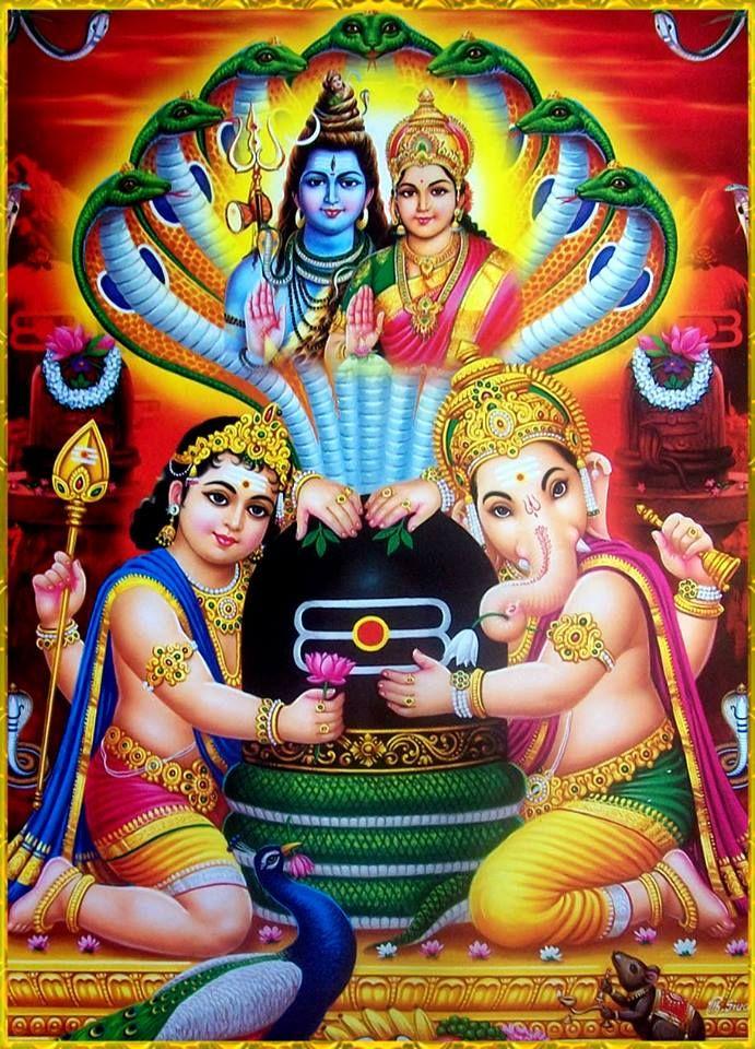 """ivashiva:  """" Shivaparivar  Shiva Shakti, Kartikeya, Ganesha  """""""
