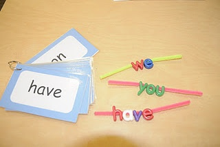 sight words- LOVE this idea... can be a small group, center, or in D5 as word work!: Sight Words, Center Ideas, Pipe Cleaners, Kindergarten Literacy Centers, Language Art, Ricca Kindergarten, Words Work, Kindergartens, Pipes Cleaners