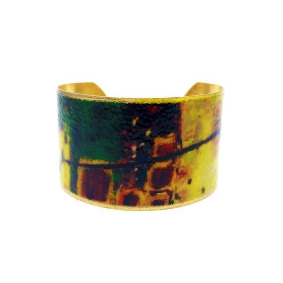 Brass Cuff Bracelet - Mothers Day Jewelry - Gift for Mom - Mothers Day Gift - Fine Art Bracelet - Statement Bracelet